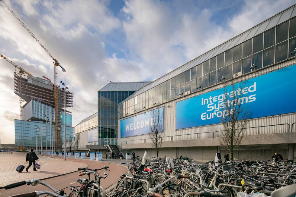 Sede del Integrated Systems Europe, que se celebra estos días en Ámsterdam