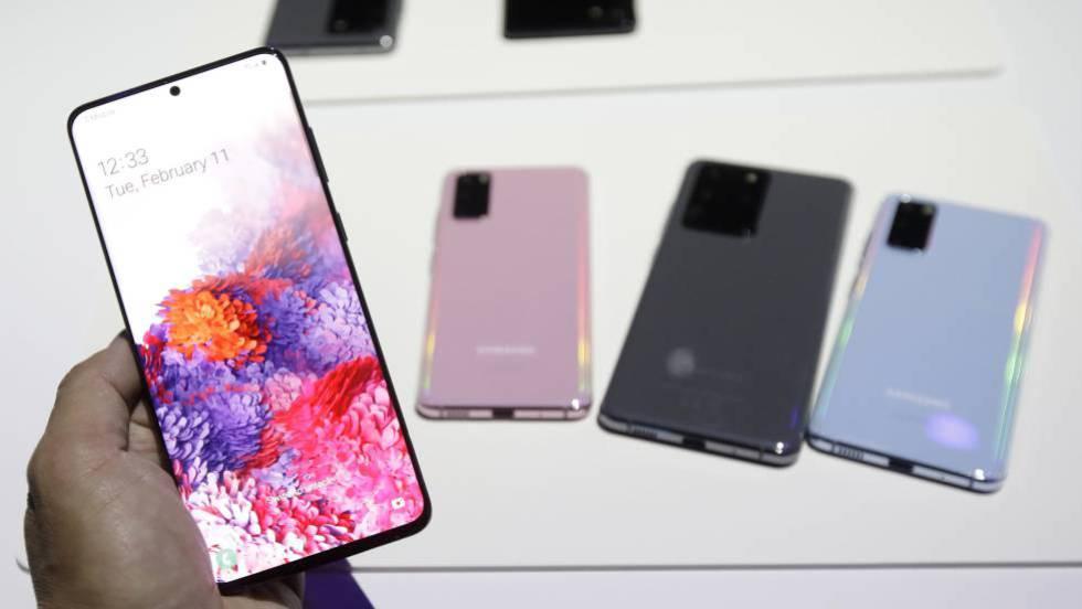 Los nuevos Galaxy S20 presentados el día 12 por Samsung.