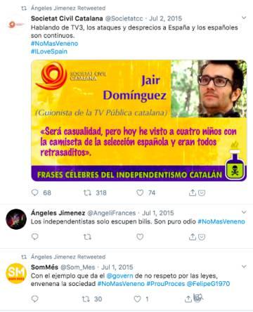 900 cuentas falsas de la misma empresa que contrató el Barça hicieron campaña contra el secesionismo