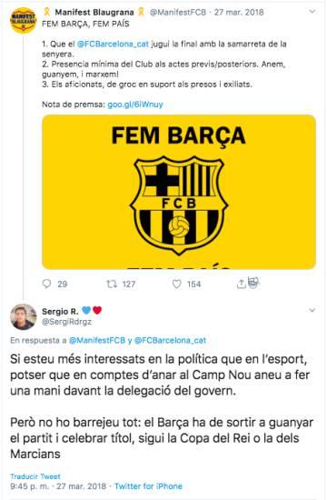 """""""Bartomeu es un rey mago"""": los 'bots' que atacaban el 'procés' en 2015 defendían ahora al presidente del Barça"""