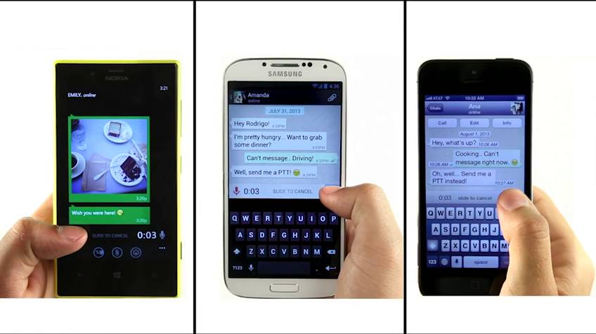 Dispositivos do Facebook e WhatsApp no celular.
