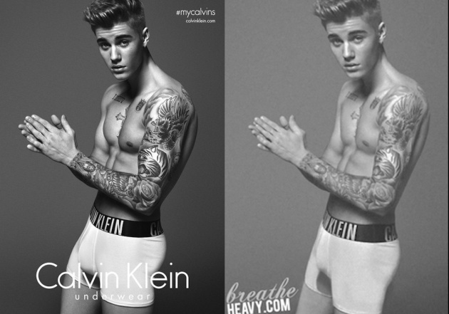 Have calvin klein mark wahlberg justin bieber words