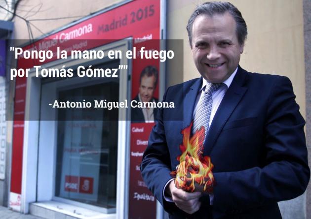 El candidato al ayuntamiento de Madrid mostró su apoyo a Tomás Gómez tras ser destituido del PSM con esta frase