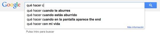Pesquisa do Google, em espanhol, que completa sozinho a frase