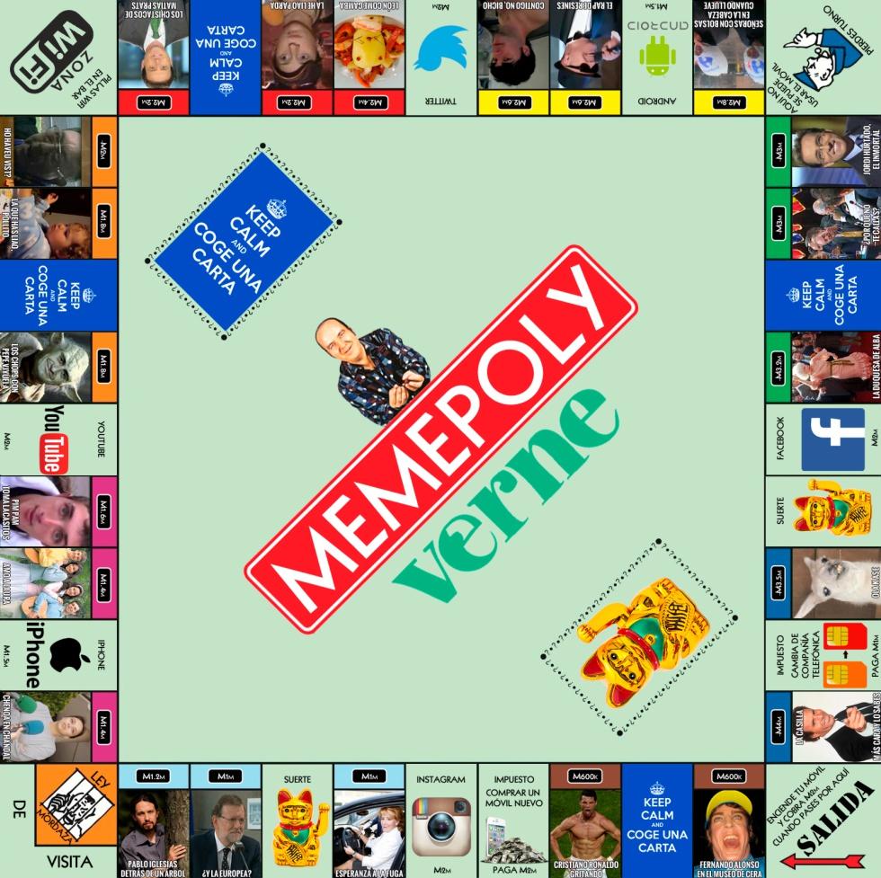 Memepoly Homenaje A Los 80 Años De Monopoly Con Un Tablero De Memes Españoles Verne El País