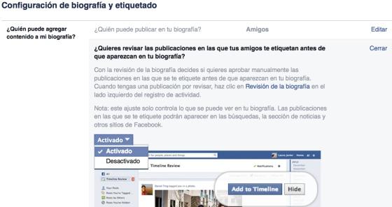Configurar privacidad mis fotos nuevo facebook 14