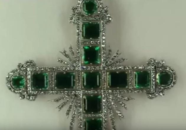Captura de la cruz de Belluga en el vídeo de YouTube que dio lugar a su localización