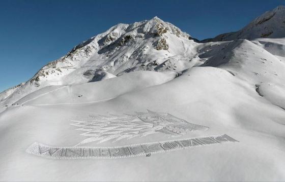 Winter is coming\': el artista que dibuja en la nieve   Verne EL PAÍS