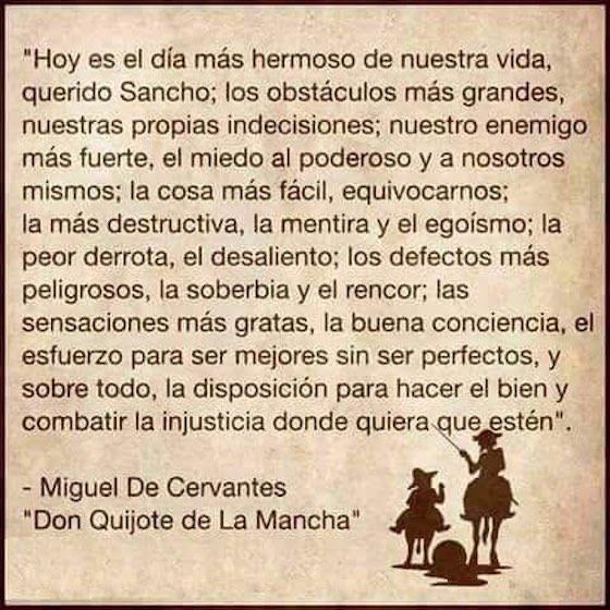 La cita falsa del 'Quijote' que te ha llegado por WhatsApp