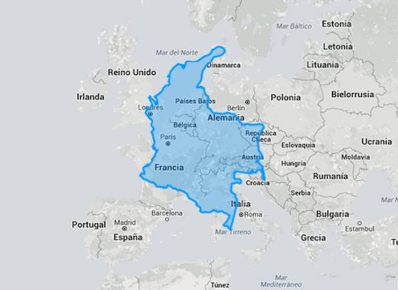 En Brasil caben 17 Españas: mapas para apreciar el tamaño