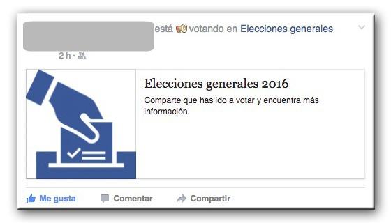 Facebook Activa El Bot N De 39 Estoy Votando 39 Durante El 26j