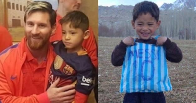 Menino que usou sacola como camisa conhece Messi e encontro viraliza ... 13e3dedfee0b5