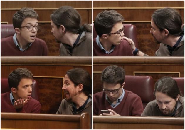 103cfe5c8f Íñigo Errejón y Pablo Iglesias en el Congreso. Las fotos son de Uly Martin