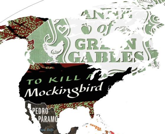 A volta ao mundo em 144 livros: um mapa-múndi feito com capas