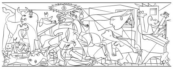 Colorea tu propia versión del \'Guernica\' y otros cuadros de Picasso ...