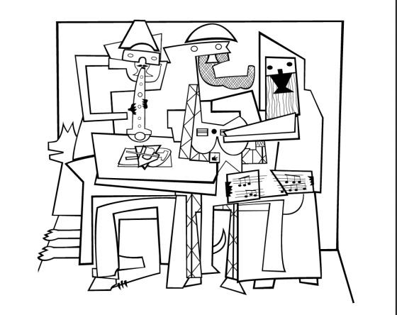Colorea tu propia versin del Guernica y otros cuadros de