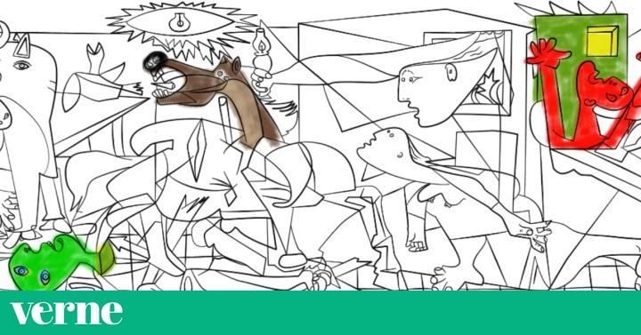 Colorea Tu Propia Versión Del Guernica Y Otros Cuadros De