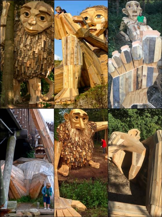 Los seis gigantes de madera 'escondidos' en las afueras de Copenhague