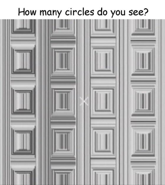 ¿Puedes ver los 16 círculos de esta imagen?