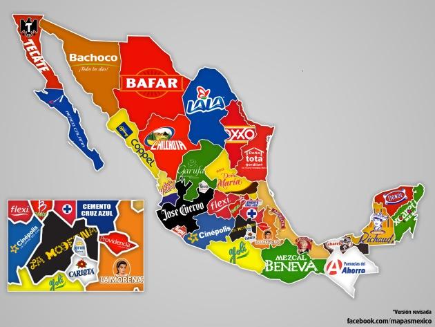 este mapa muestra dónde nacieron 32 de las marcas más populares de