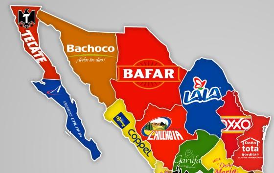 Este Mapa Muestra Dónde Nacieron De Las Marcas Más Populares De - Mapa de mexico