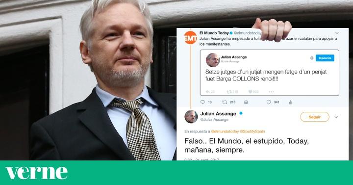 Assange se toma en serio una broma de 'El Mundo Today' sobre su apoyo al referéndum