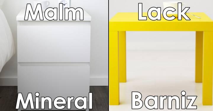 Este sueco está traduciendo el nombre de todos los muebles de Ikea ...