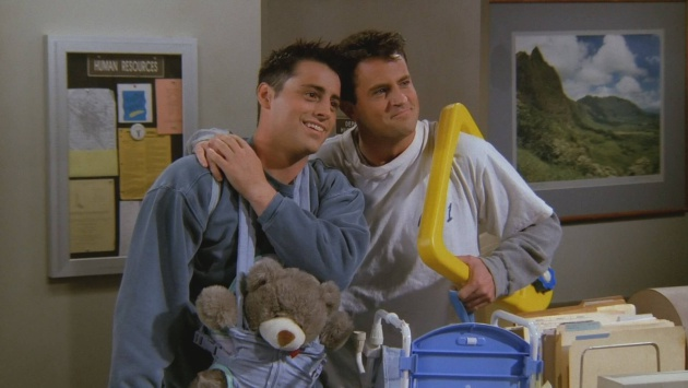 Joey y Chandler, amigos en 'Friends'