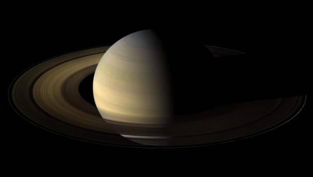 Saturno, en una de las fotografías de la misión Cassini