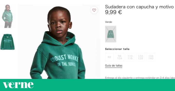 """6d442a41b H M retira de su web la foto de un niño negro con una sudadera de """"el mono  más guay de la jungla"""""""