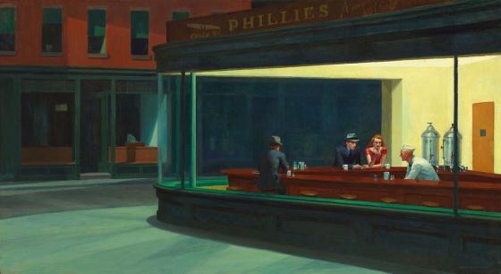 No es un cuadro de Hopper, son muchos Hoppers encerrados en un cuadro
