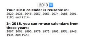 Calendario 1932 Espana.Si Guardas Un Calendario De 1990 Puedes Reutilizarlo Este