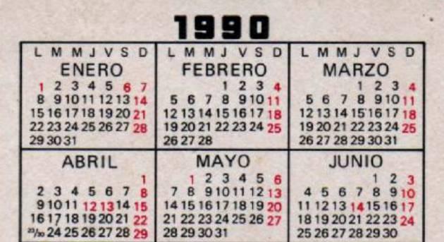 Si Guardas Un Calendario De 1990 Puedes Reutilizarlo Este 2018