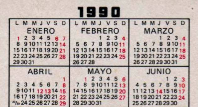 Si guardas un calendario de 1990 puedes reutilizarlo este 2018 si guardas alguno de estos calendarios de bolsillo te vale en 2018 thecheapjerseys Image collections