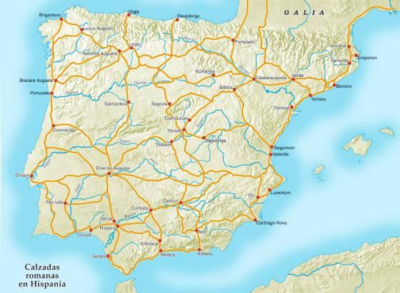 Resultado de imagen de mapa de las calzadas romanas