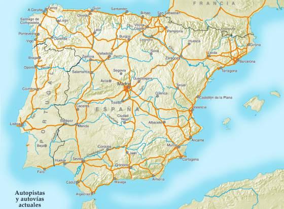 Mapa De España Carreteras.No Es Una Guia De Autopistas Es Un Mapa De Calzadas Romanas