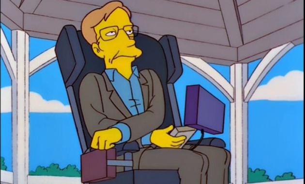Stephen Hawking en el episodio 22 de la temporada 10 de 'Los Simpson': 'Salvaron el cerebro de Lisa' (1999)