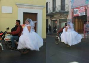 8d558e650 Una novia en Oaxaca busca al motociclista que la ayudó a llegar a tiempo a  su boda ...