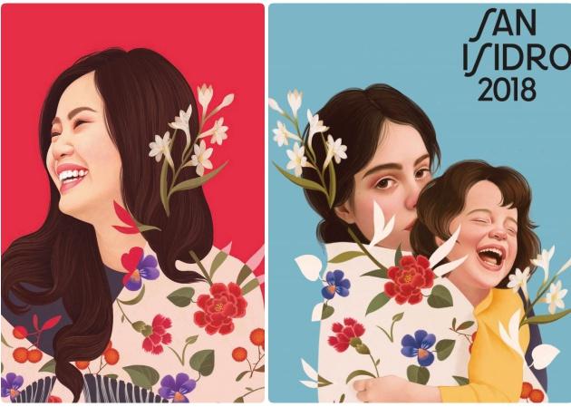 Dos de los carteles de San Isidro, de Mercedes deBellard.