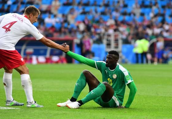 Os braços da Copa: a foto de um brasileiro em Senegal x Polônia