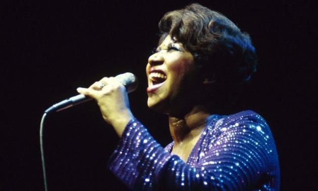 Aretha Franklin en concierto en el teatro New Victoria de Londres (Reino Unido), en los años 80