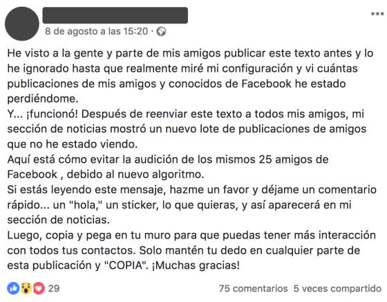 Los Amigos Que Más Ves En Facebook No Cambian Por Compartir Un Texto En Tu Muro Verne El País