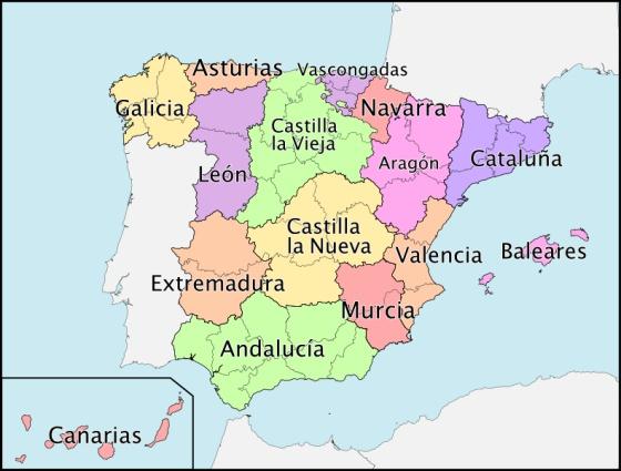 Mapa De Provincias Españolas.Cartagena Chinchilla Xativa Asi Han Cambiado Las