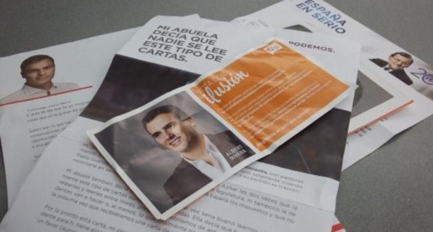 Resultado de imagen de cartas de los politicos para votar