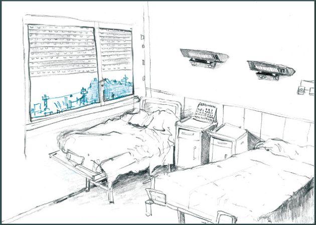 Una de las ilustraciones que hice en el psiquiátrico