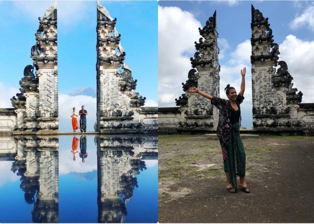 Turismo de postureo: horas de cola para hacerse una foto trucada en un templo de Bali