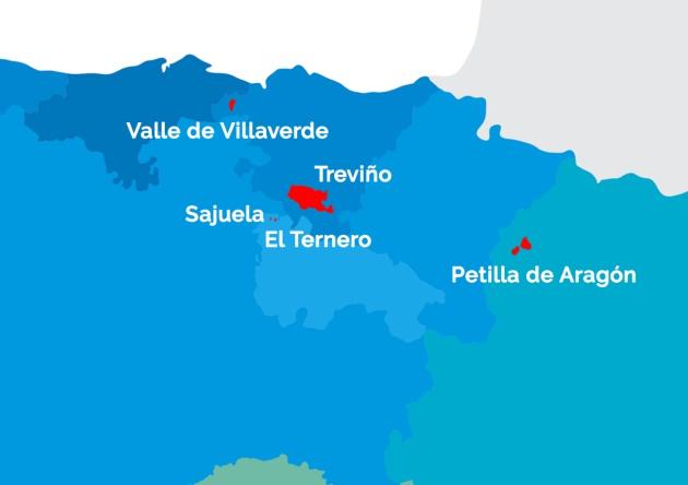 Condado De Treviño Mapa.El Mapa De Los Enclaves Espanoles Los Territorios Rodeados