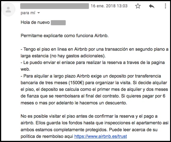 One of the mails sent out by fraudsters, in this case requesting a transfer of €1,500.