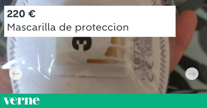 Wallapop está borrando los anuncios de mascarillas a 100 euros