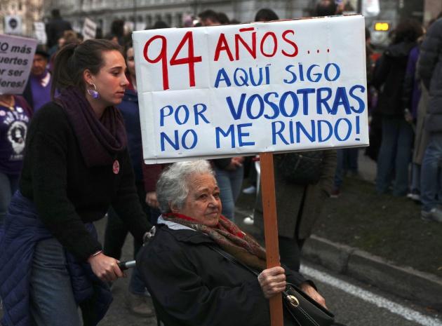 Participantes en la manifestación del 8M de Madrid
